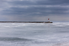 'Point Out' (Canadapt) Tags: red lighthouse lake ontario ice point jetty erie portstanley canadapt