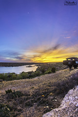 Ransom Canyon Sunset (Neshadha Perera) Tags: sunset sky usa lake water clouds canon evening texas afternoon dusk tx canyon soil 7d april westtexas pm ransom 2014 neshadhasphotography neshadha