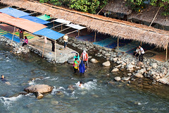 Bathing Huts on the Shore 4481 (Ursula in Aus (Resting - Away)) Tags: sumatra indonesia unesco bukitlawang gunungleusernationalpark earthasia