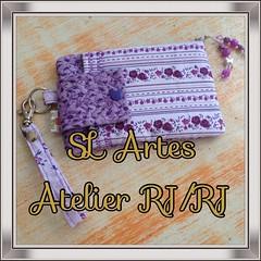 Porta Celular e Din din rs (SL Artes Atelier (RJ/RJ) - http://www.facebook.com) Tags: de casamento patchwork lembrancinhas portacelular bolsinhas aulasdepatchworknorj atelierslartes