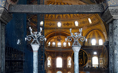View from gallery toward the apse, Hagia Sophia