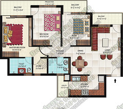 gillco-park-hills-mohali-3bhk-floor-plan-type-1