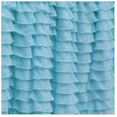 Ruffle Shower Curtain Panel, Custom Aqua Blue, 72x88 inches (avisiontoremember) Tags: blue light green bathroom shower aqua panel curtain fabric curtains bathtub custom ruffle ruffled avisiontoremember