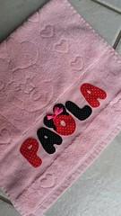 Toalhinha de mo infantil (Criao Exclusiva da Ane) Tags: disney toalha nome menina lavabo banho minie aplicao toalhademo apliqu
