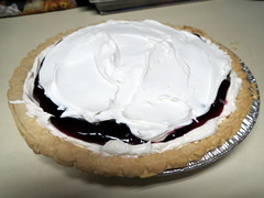 Blueberry Cream Pie. (dccradio) Tags: lumberton nc northcarolina robesoncounty food eat pie blueberrycreampie whippedtopping whippedcream coolwhip crust tin pieplate dessert sweets treat homemade