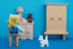 Niñera / Babysitter (Marmotuca) Tags: niñera bebé perro lego babysitter