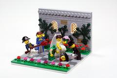 Blunderbuss Wedding (dr_spock_888) Tags: lego moc bobs pirates commodore bride groom wife officiant shotgun wedding pregnant