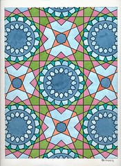 20161024 (regolo54) Tags: islamicgeometry islamicpattern islamicdesign arabiangeometry escher watercolor aquarelle handmade symmetry mathart regolo54