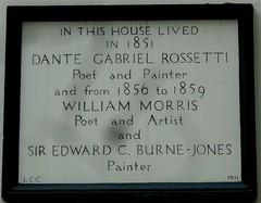 [48632] Holborn : Rossetti, Morris & Burne-Jones (Budby) Tags: london londonboroughofcamden plaque information history heritage holborn preraphaelite