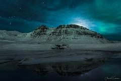 Night Lights (Aron Cooperman) Tags: kirkjufellsfoss aurora iceland landscape night winter2017 reflection moon nikond800 nikon 20mm travel stars nightscape winter snow