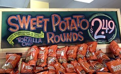 Get A Round (misterbigidea) Tags: signs art sign chalk artwork hand display letters joe chips snack traderjoes chip appetizer lettering joes sweetpotato chalkboard dip tortilla nacho trader traderjoe signpainter
