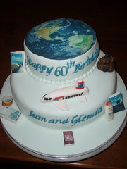'Travel' Cake (Icing Angel) Tags: birthday travel cake plane globe passport suitcase 60