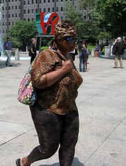 IMG_8081 (ViewFromTheStreet) Tags: park street woman love philadelphia girl lady female photography calle colorful pants skin pennsylvania candid streetphotography style stretch purse leopard lovepark tight blick viewfromthestreet vftsviewfromthestreet blickcalle