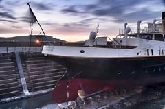 Astern (Alistair Hamill) Tags: blue ireland twilight long exposure belfast hour northern titanic nomadic