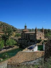 Ermita de Nuestra Seora de la Fuente ( Muel ) (galileo1657) Tags: espaa rio canon agua fuente iglesia zaragoza aragon virgen dique ermita cascada muel huerva galileo1657