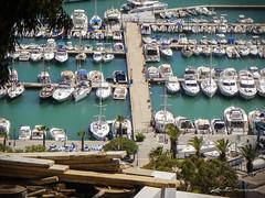 Port de plaisance de Sidi Bou Said (dominiquekt) Tags: blue mer architecture kodak tunisia tunis sidibousaid bleu dominique said khaled carthage tunisie sidi tunez sidibou touel z980 z981