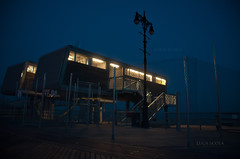 all right reserved  Luca Scola (<NERVO> Luca) Tags: blue light sea summer newyork night america coneyisland mare luci notte oceano atlantico lucascola