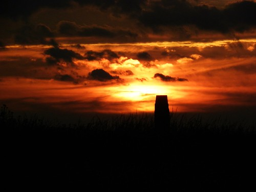 Sunset over the 105th PA Monument at Gettysburg