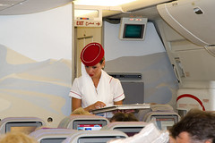 Emirates flight attendant (Osdu) Tags: airplane inflight cabin aircraft aviation aeroplane emirates crew hostess boeing aviao stewardess flugzeug avin aereo avion avia flightattendant vliegtuig flygplan planespotting boeing777 emiratesairlines   airhostess stewardes aeroplano lentokone samolot uak flugvl   luftfahrzeug lennuk   a6emu  letoun fastvingefly 777 aroplanum