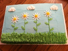 Sunflower cake by Christine, Marion, IA, www.birthdaycakes4free.com