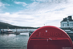 Lifebuoy (blueleven) Tags: blue sea sky water clouds photoshop scotland nikon hdr