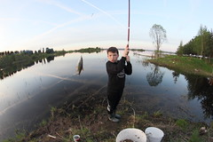 IMG_3811 (Slavik Terebov) Tags: road street wood boy sunset sky lake fish tree water grass canon river lens outdoors boot spring fishing focus village russia fisheye spinning manual grassland 8mm manualfocus herb wod samyang 550d greenfodder canon550d ppb6df