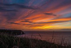 Sundown at Musselwick (PenparcauBoy) Tags: sunset sea colour wales clouds pembrokeshire pembrokeshirecoastpath