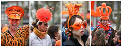 Orange Day (Katka S.) Tags: city party portrait people orange holland dutch amsterdam fun four funny day many 4 capital kingdom queen celebration queens netherland nedherlands