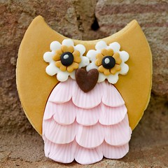 Mocha the owl (The sugar mice) Tags: pink brown bird cookies cookie biscuit owl biscuits vanilla adventuresinsugarland