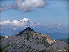 Mont Blanc et Grand Perron des Encombres depuis la Pointe d'Émy