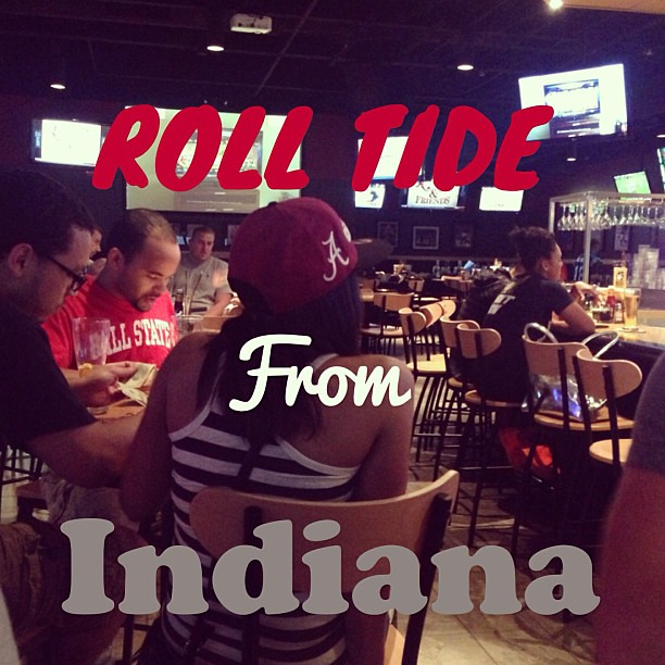 Glad to see the #Alabama fan base in the Midwest. #RollTide #football #gameday #represent #rollbear