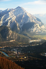 Banff in Morning Light (segamatic) Tags: trees mountain canada mountains nature canon river landscape eos town nationalpark alberta banff gondola sulphur 5dmarkii canonef70200mmf28lisiiusm