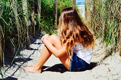 Beach (Bri Sea) Tags: ocean sky color love beach water hair model sand nikon focus flickr pretty florida bokeh like cover instagram