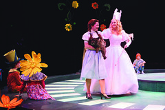 Emily Walton as Dorothy and Heather Lee as Glinda in The Wizard of Oz produced by Music Circus at the Wells Fargo Pavilion June 21 -30, 2013. Photo by Charr Crail.