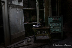 Walk a Mile (stephanie.mcdermott) Tags: abandoned halloween shoe scary cell creepy prison jail dresser solitary penitentiary cellblock confinement