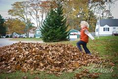 Skip, skip, wheeee! (grilljam) Tags: leaves ewan 4yrs