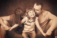 ! (MissSmile) Tags: family girl smile sepia kid warm child emotion joy memories happiness together laugh textured misssmile