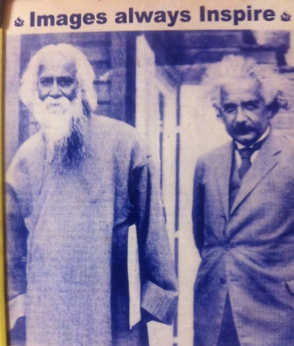 From flickr.com: Tagore and EInstein {MID-70570}