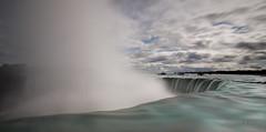 On the Edge (Heather_K_Jones) Tags: longexposure mist ontario canada tourism nature clouds niagarafalls waterfall tourists attractions landsacpe niagarariver heatherkjones