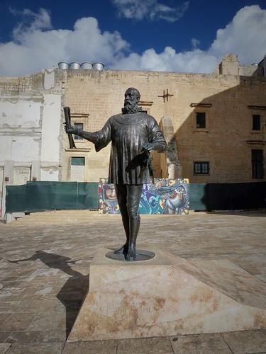 Statue du fondateur de la capitale : Jean De La Valette, Malte