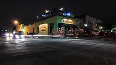McCrays (MikeWatsonGA) Tags: city streets cars night ga timelapse small lawrenceville mccraystavernonthesquare