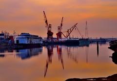 Kalakala at sunset (Redorblack1) Tags: sunset waterfront cranes kalakala portoftacoma