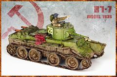 BT-7 Model 1935 (Andy R Moore) Tags: canon model tank worldwarii soviet ww2 kit 135 russian eduard easternexpress eos650d bt7