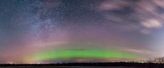 Aurora Borealis and Milky Way (Ben_Senior) Tags: light sky ontario canada night stars lights amazing nikon ottawa northernlights auroraborealis lighteffects milkyway d90 nikond90 bensenior