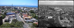 Crown Street Wollongong From Hospital & Right by Hurley, Frank, 1885-1962 (Old Family Images) Tags: roof hospital comparison wollongong 1960 lawson oldandnew nowandthen twh illawarra crownstreet lawsonhouse frankhurley nurseshome wollongonghospital wollongongsuburbs