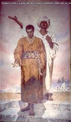 Eugenio Prati La pala dei SS Cosma e Damiano 1894 olio su tela 300 x 150 cm Chiesa della Vela di Trento