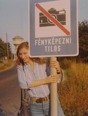 BUDAPEST 1975 (streamer020nl) Tags: camera sign analog naughty kodak watertower forbidden louise instamatic nophotos verboden svábhegy fényképeznitilos