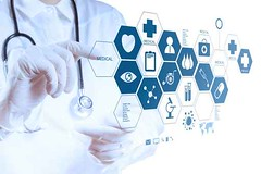 Medicine doctor hand working with modern computer interface (helene.ebach) Tags: people test white chart male eye modern digital work computer person technology hand heart graphic tech symbol display background report touch interface graph screen professional medical health human doctor virtual diagram future button data push medicine network portal care press medic exam navigation stethoscope molecule caucasian cardiology cardiologist mednamic