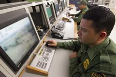 South Texas Border Patrol Agent Monitors Border Activity with RVS (CBP Photography) Tags: video surveillance border system agent remote activity bp patrol rvs cbp