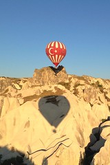 Cappadocia ballooning (H McCann) Tags: beautiful surreal landscape view vista amazing 2013 june sunrise flight fly float helium balloons balloon ballon geology formations rock kapadokya turkey cappadocia fairychimneys hotair flickriosapp:filter=nofilter uploaded:by=flickrmobile